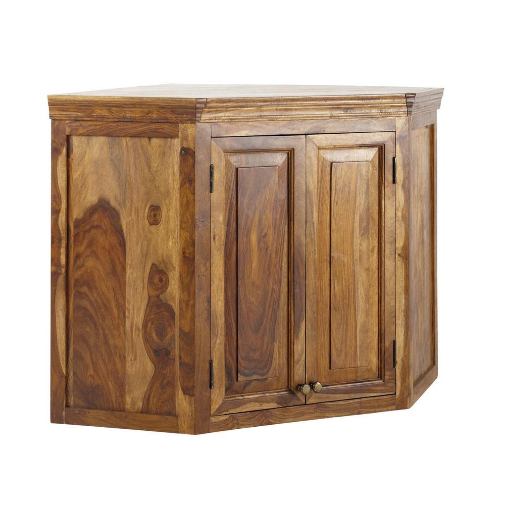 lub ron eckoberschrank f r die k che aus massivem sheeshamholz b. Black Bedroom Furniture Sets. Home Design Ideas