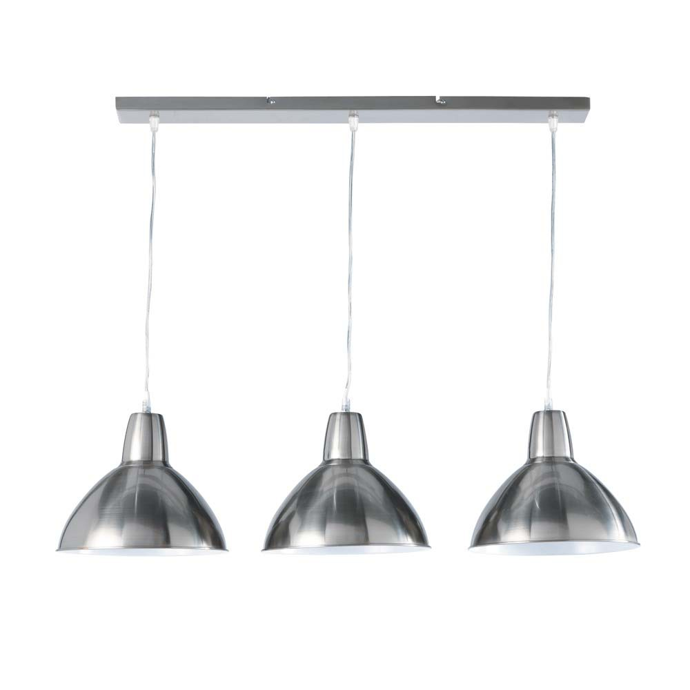 Suspension Luminaire Cuisine: EDISON Metal Adjustable Triple Ceiling Light W 95cm