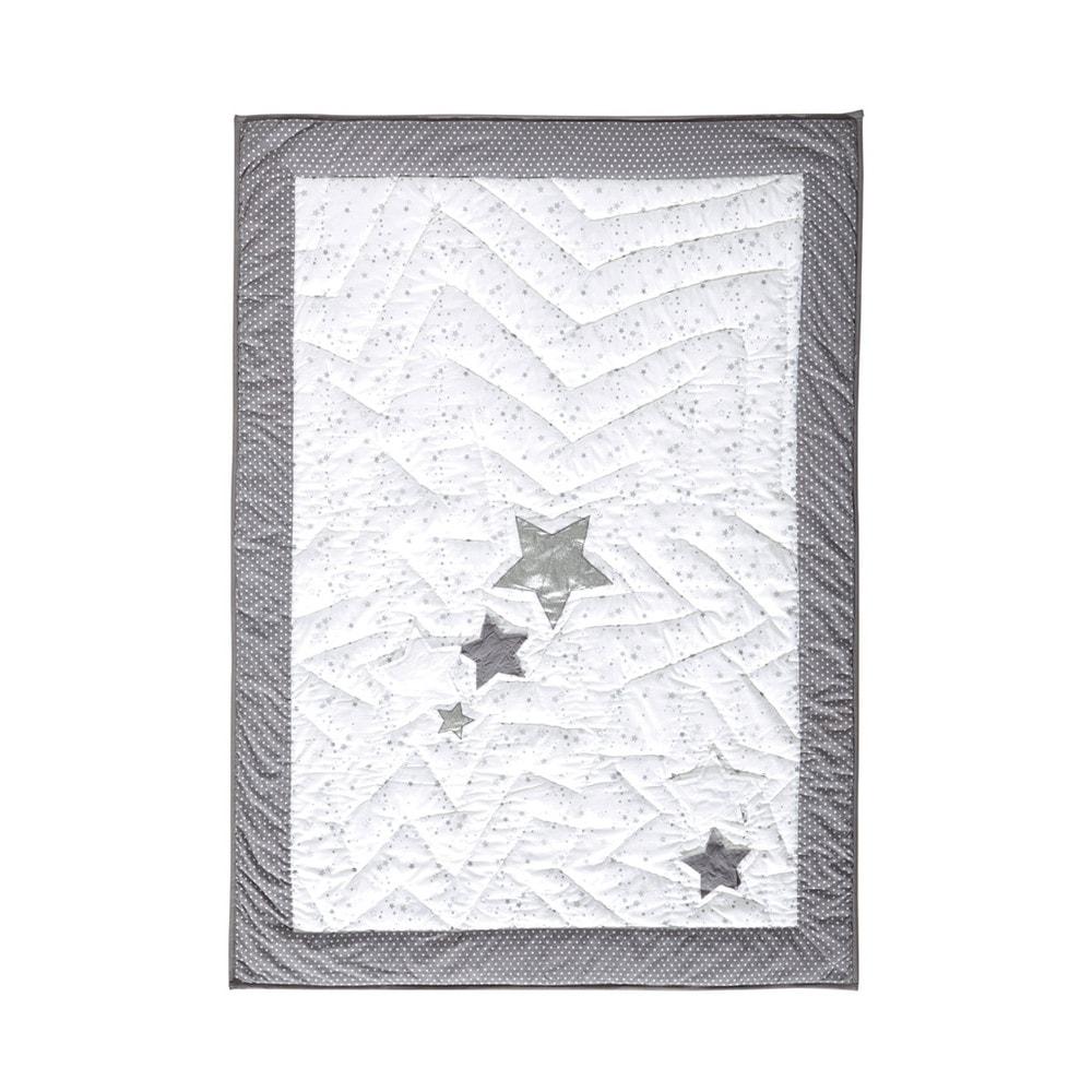 dredon enfant en coton blanc gris 100 x 140 cm songe maisons du monde. Black Bedroom Furniture Sets. Home Design Ideas