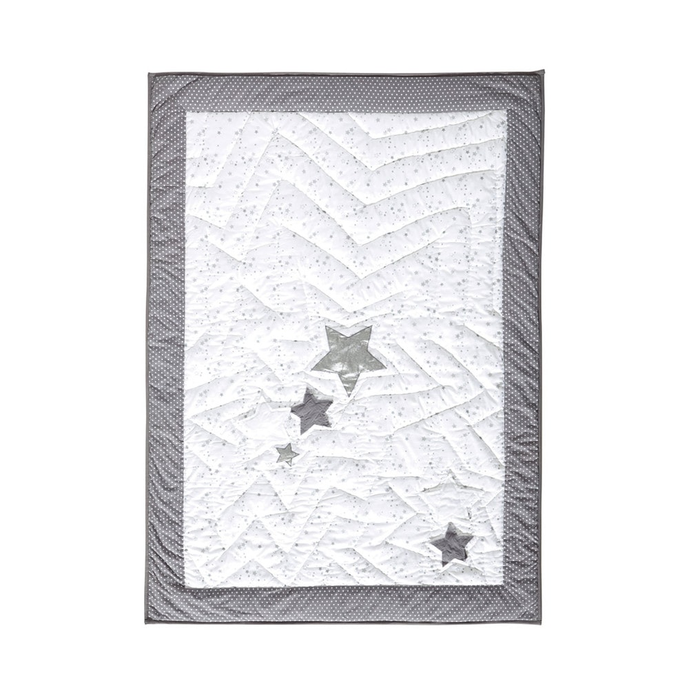 dredon enfant en coton blanc gris 100 x 140 cm songe. Black Bedroom Furniture Sets. Home Design Ideas
