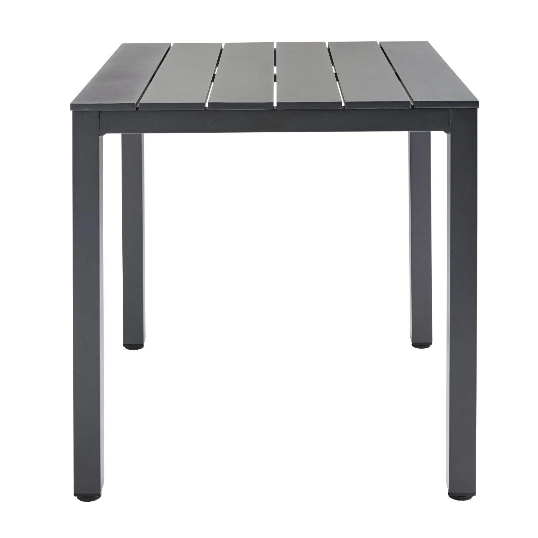 Eettafel 2 Personen.Eettafel Voor 2 4 Personen Van Antracietgrijs Aluminium L 75 Cm