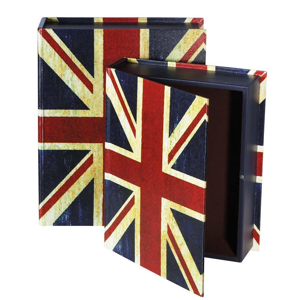 Ensemble de 2 bo tes livre london maisons du monde - Boite de rangement maison du monde ...
