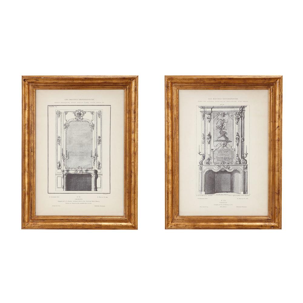 ensemble de 2 cadres maestri maisons du monde. Black Bedroom Furniture Sets. Home Design Ideas