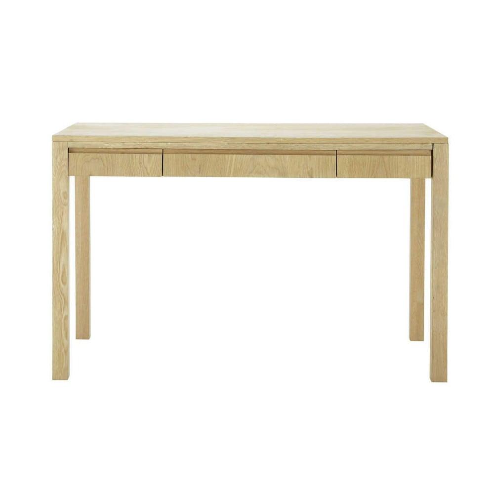 escritorio de diseo de roble macizo an cm