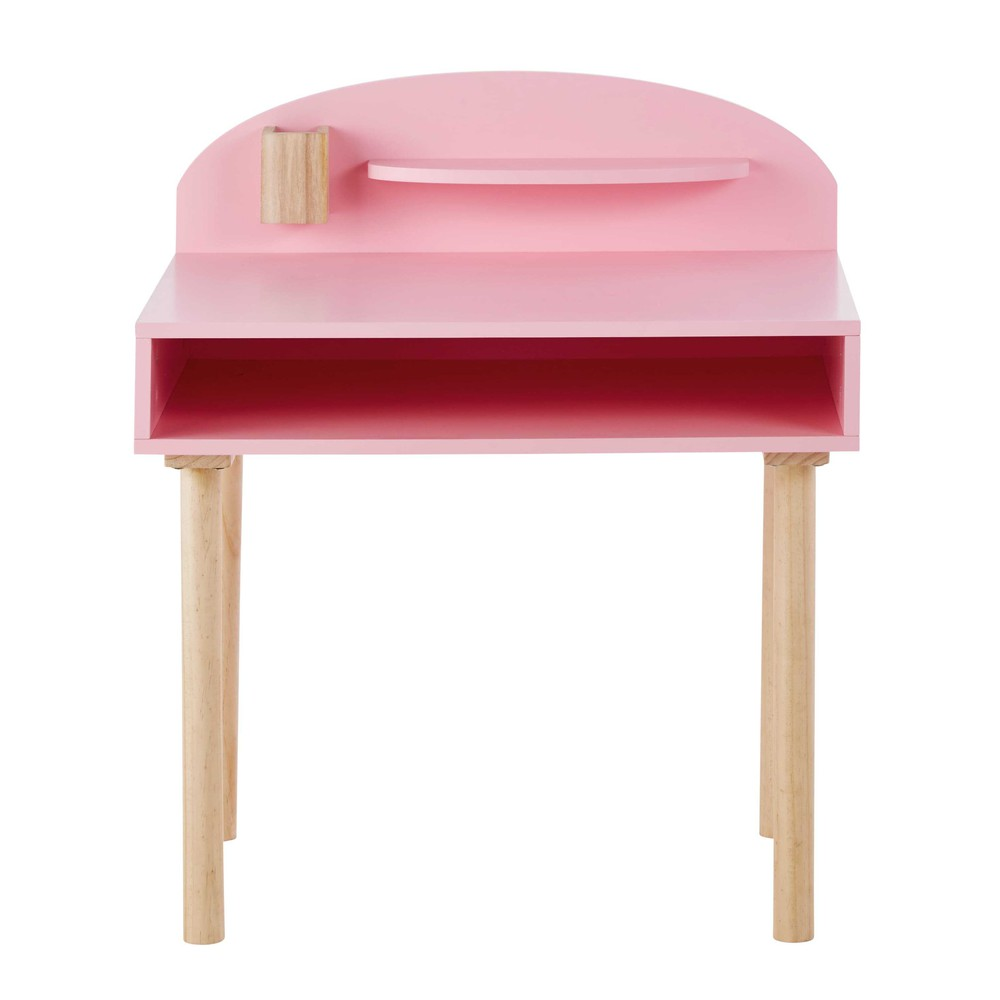 Escritorio infantil de madera rosa l 70 cm nuage maisons du monde for Escritorio infantil