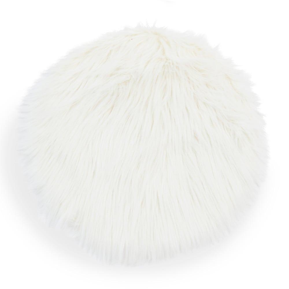 ESKIMO faux fur chair pad white D 38 cm – White Chair Pad