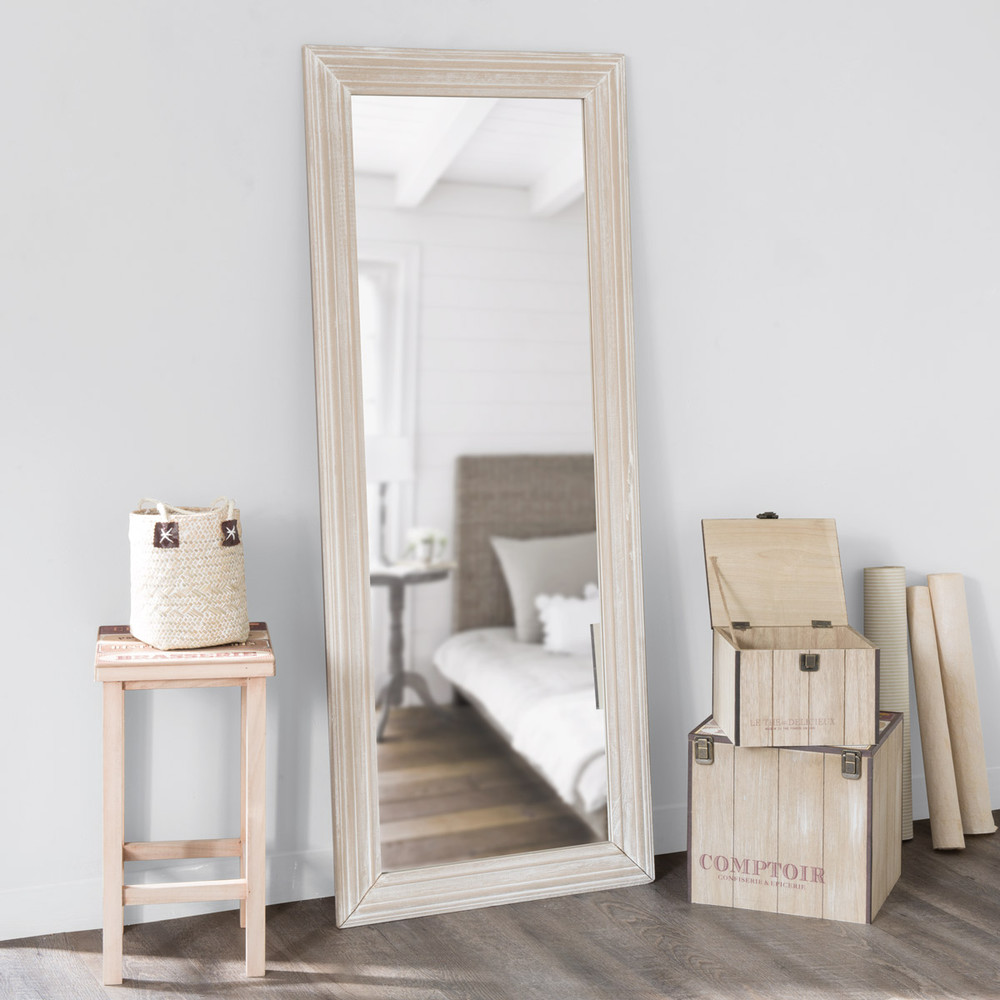 Espejo cl sico al albayalde maisons du monde for Espejos de pie para habitacion