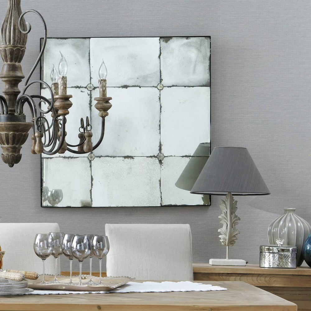 Espejo con efecto envejecido al 100 cm angelina maisons for Espejo maison du monde