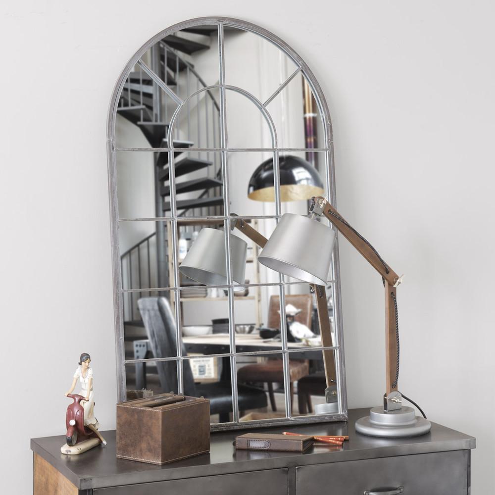 Espejo de metal al 110 cm arcade maisons du monde for Miroir 110 50
