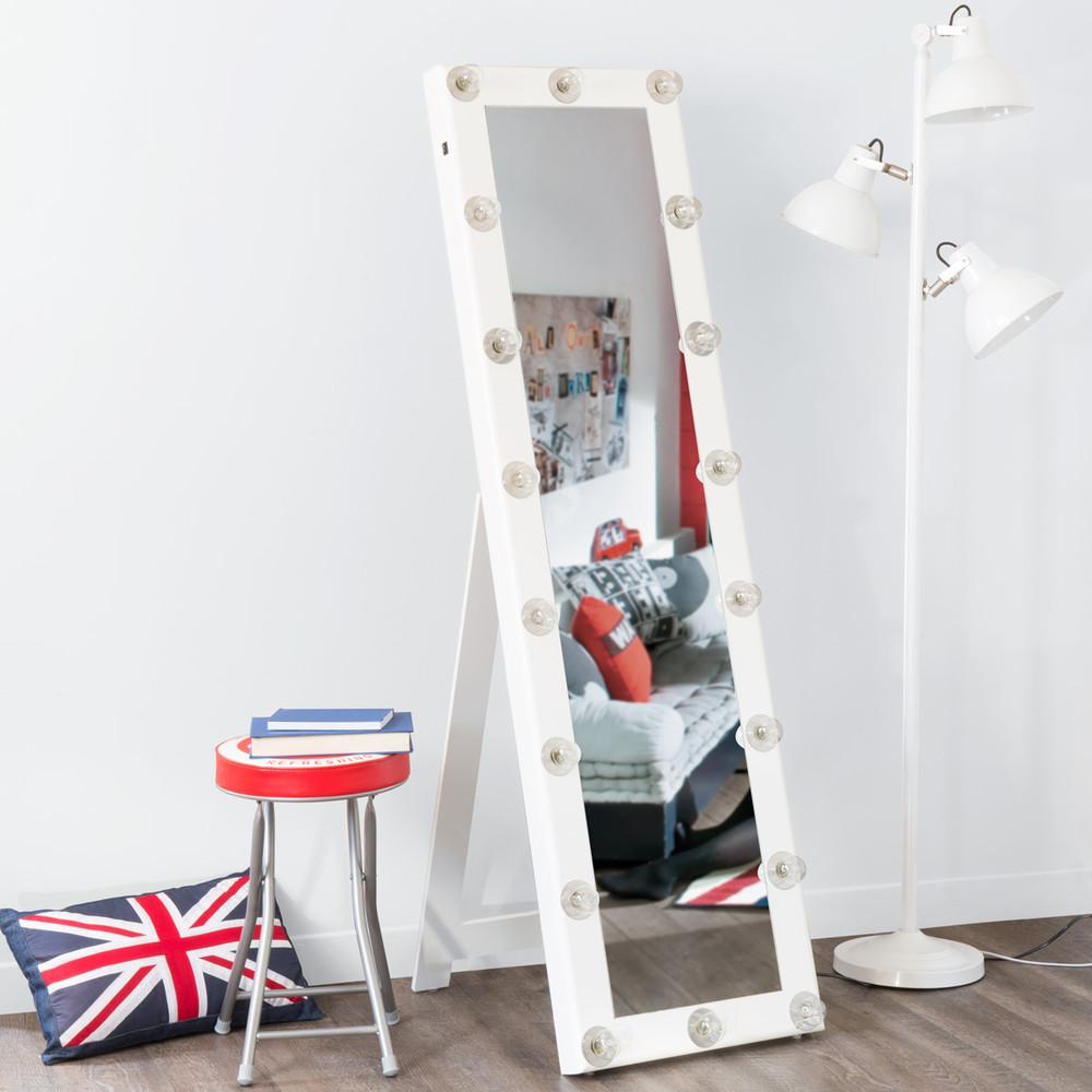 Espejo de pie camerino blanco maisons du monde for Espejo pie blanco