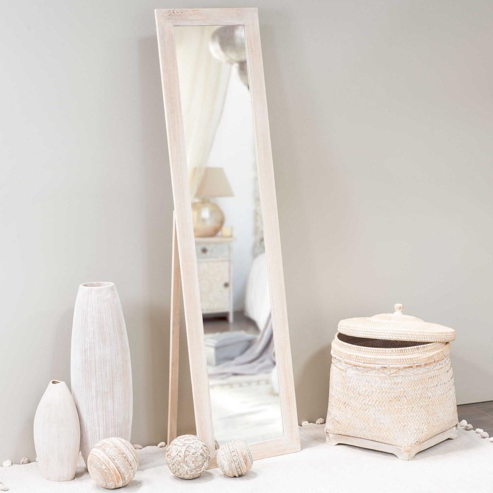 Espejo de pie de madera al 150 cm laure maisons du monde for Espejo pie madera