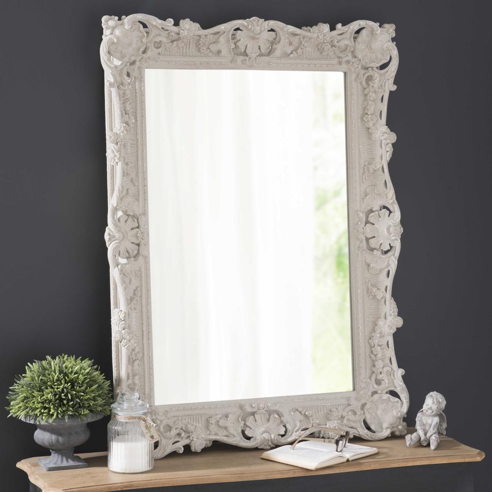 Espejo de resina gris topo al 113 cm b r nice maisons - Espejos de resina ...