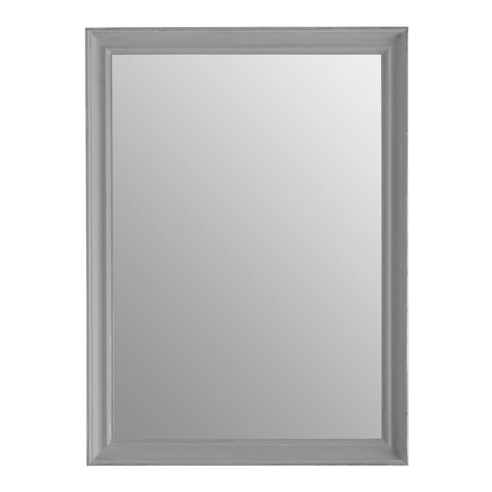 Espejo elianne gris 70 x 95 maisons du monde for Espejo marco gris
