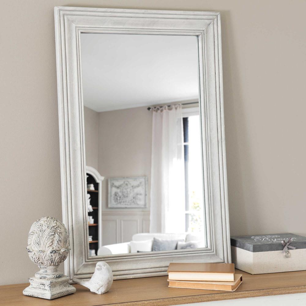 Espejo gris montmartre maisons du monde for Espejo marco gris
