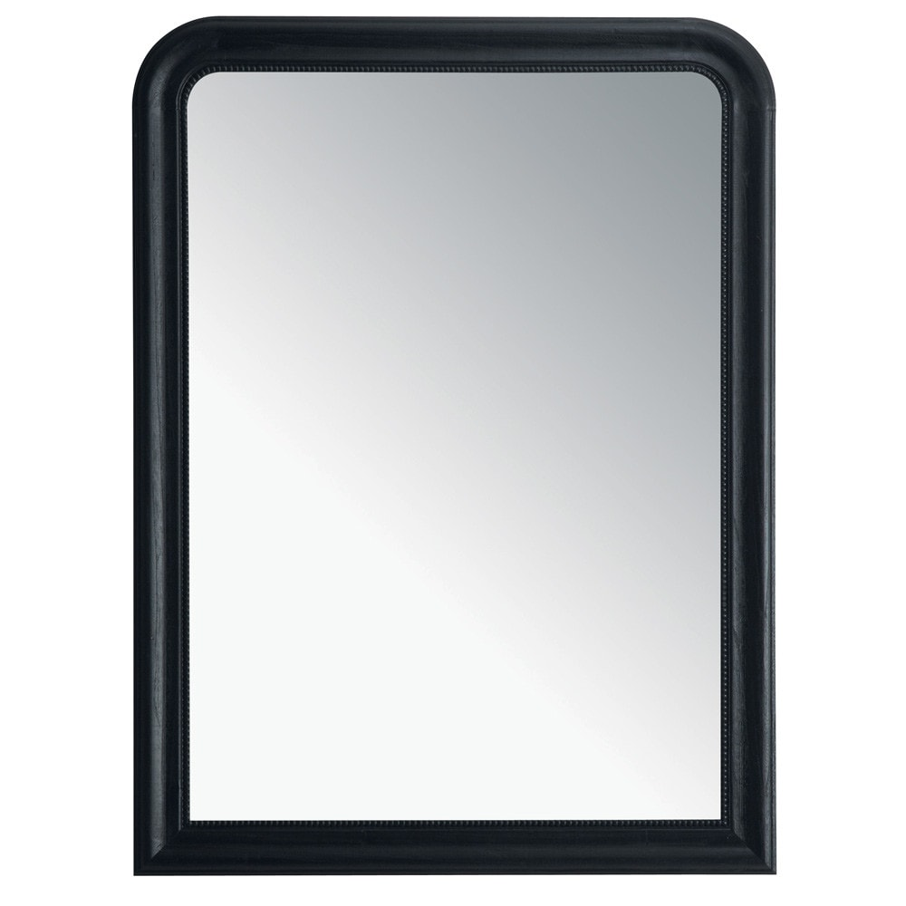 Espejo louis negro 90 x 120 maisons du monde for Espejo 120 x 50