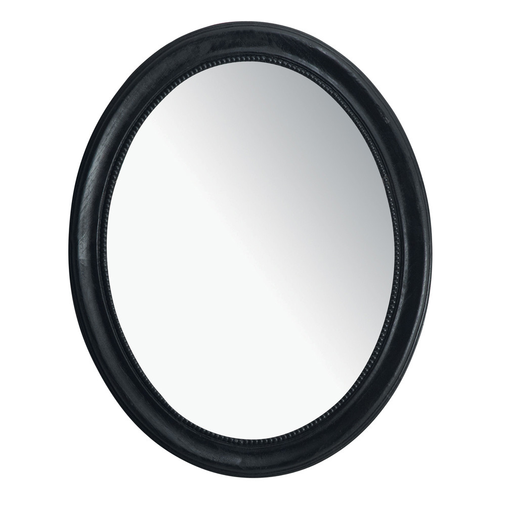 Espejo louis ovalado negro maisons du monde for Espejo ovalado