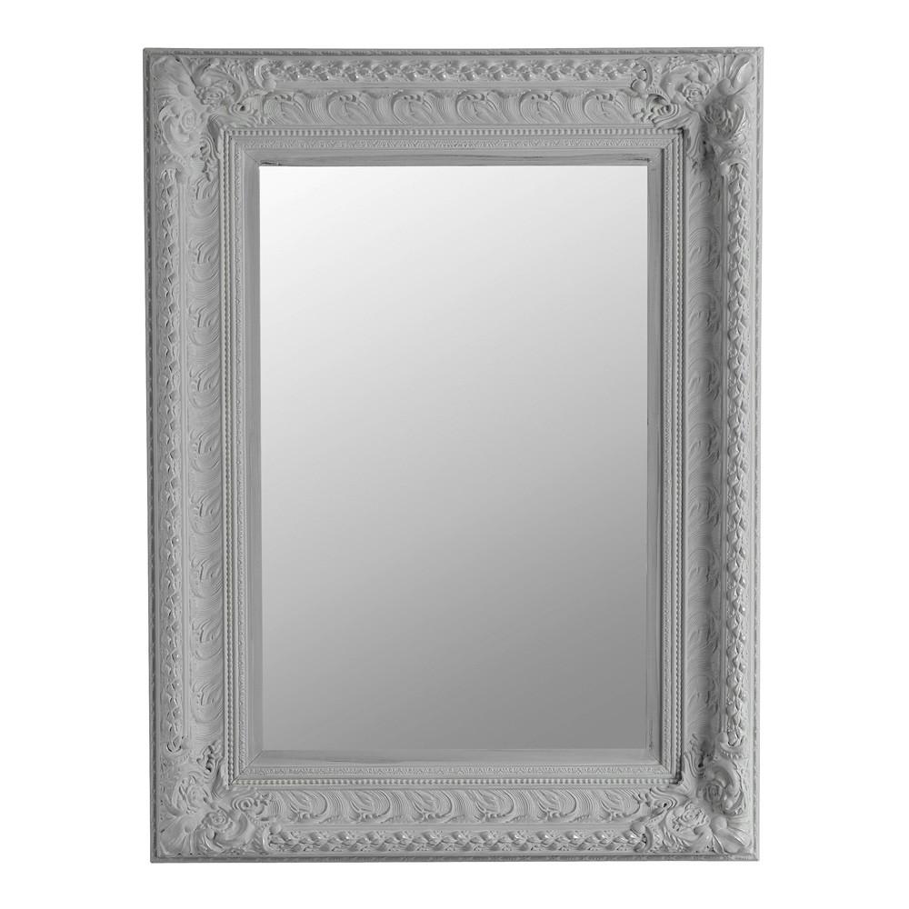 Espejo marquise gris 95 x 125 maisons du monde for Espejo marco gris