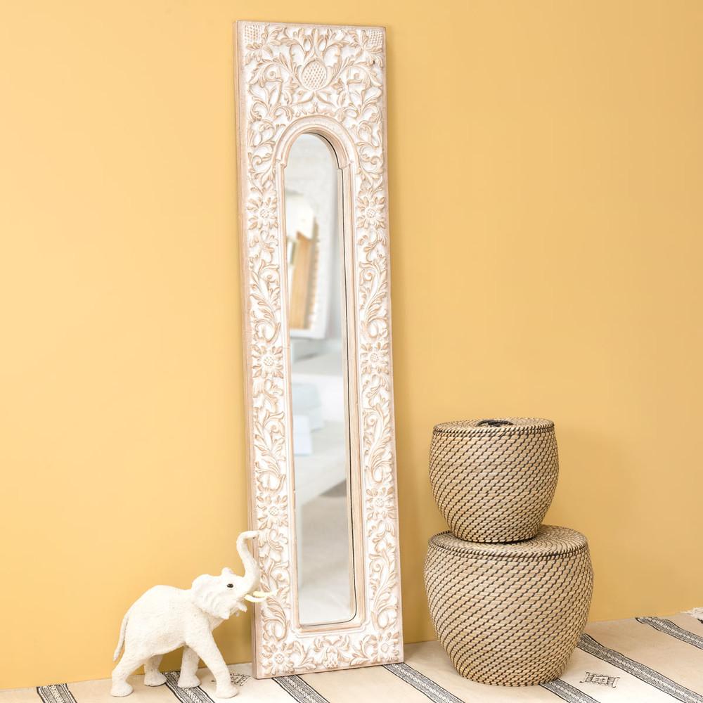 Espejo trem de resina blanco al 178 cm hoa maisons du - Espejos de resina ...
