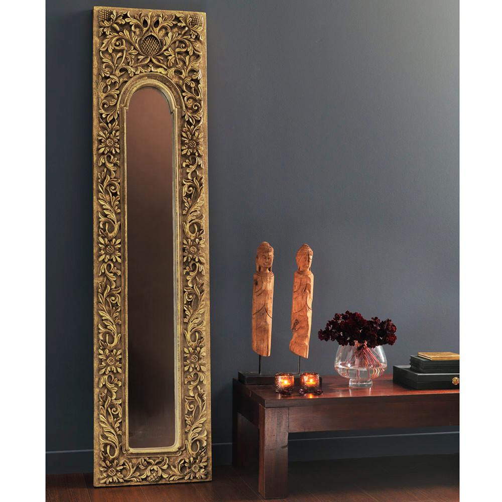 Espejo trem de resina dorado al 178 cm hoa maisons du monde - Espejos de resina ...