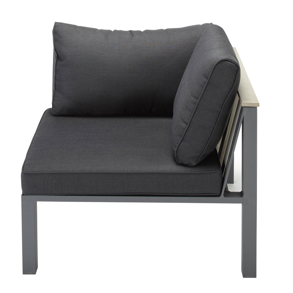 Esquina de sof de jard n de aluminio antracita bergame for Sofa esquinero jardin