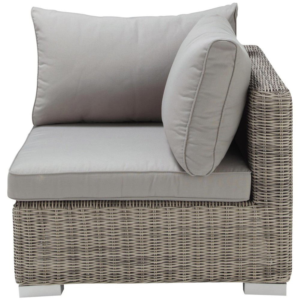 Esquina de sof de jard n de resina trenzada gris cape for Sofa resina jardin