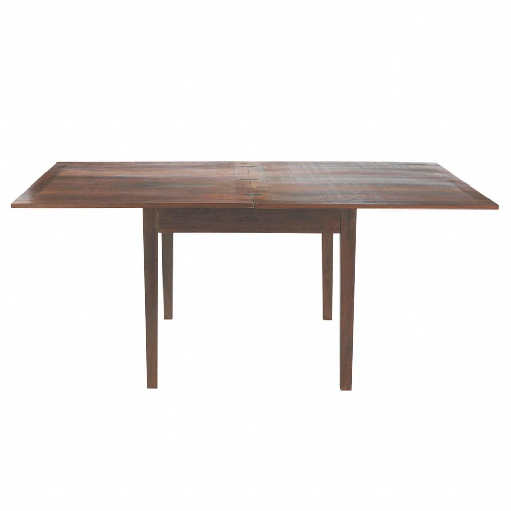 Esstisch aus holz mit einlegeplatten h 90 cm clic clac for Esstisch aus holz