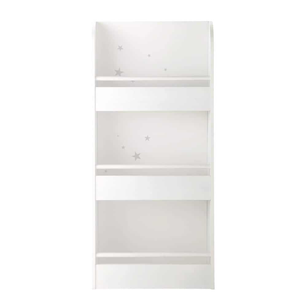 Estanter a de madera blanca an 55 cm songe maisons du monde - Biblioteca madera blanca ...