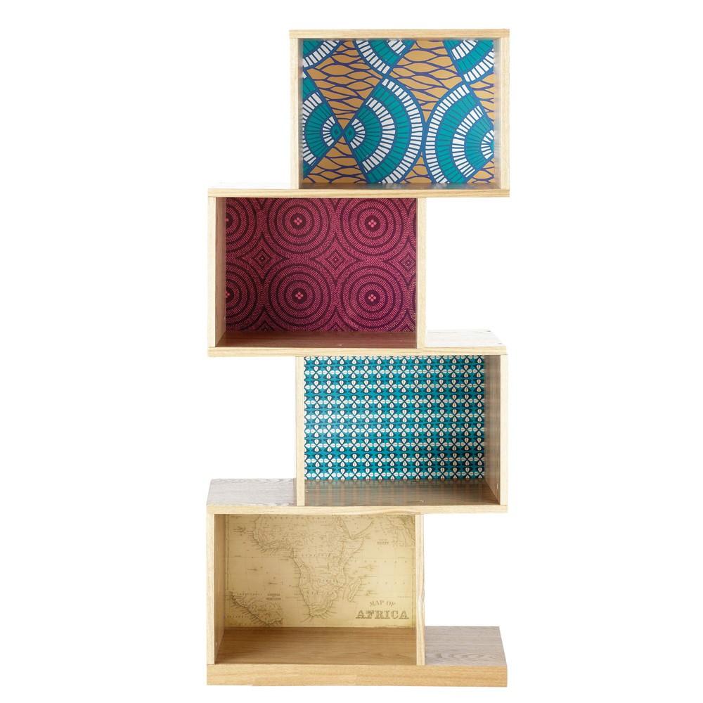 Estanter a de madera de colores an 55 cm bamako maisons - Estanterias de colores ...
