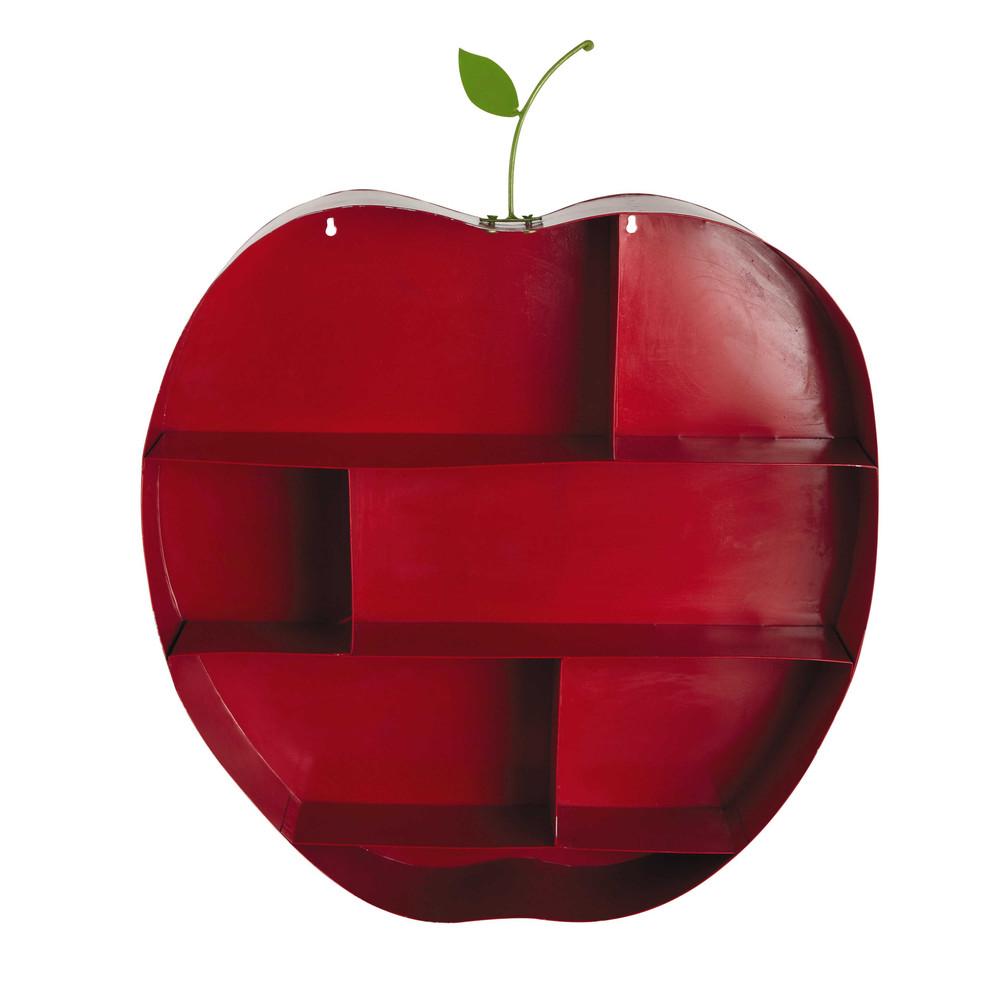 Estanter a de pared infantil manzana de metal roja al 73 - Estanterias de pared infantiles ...