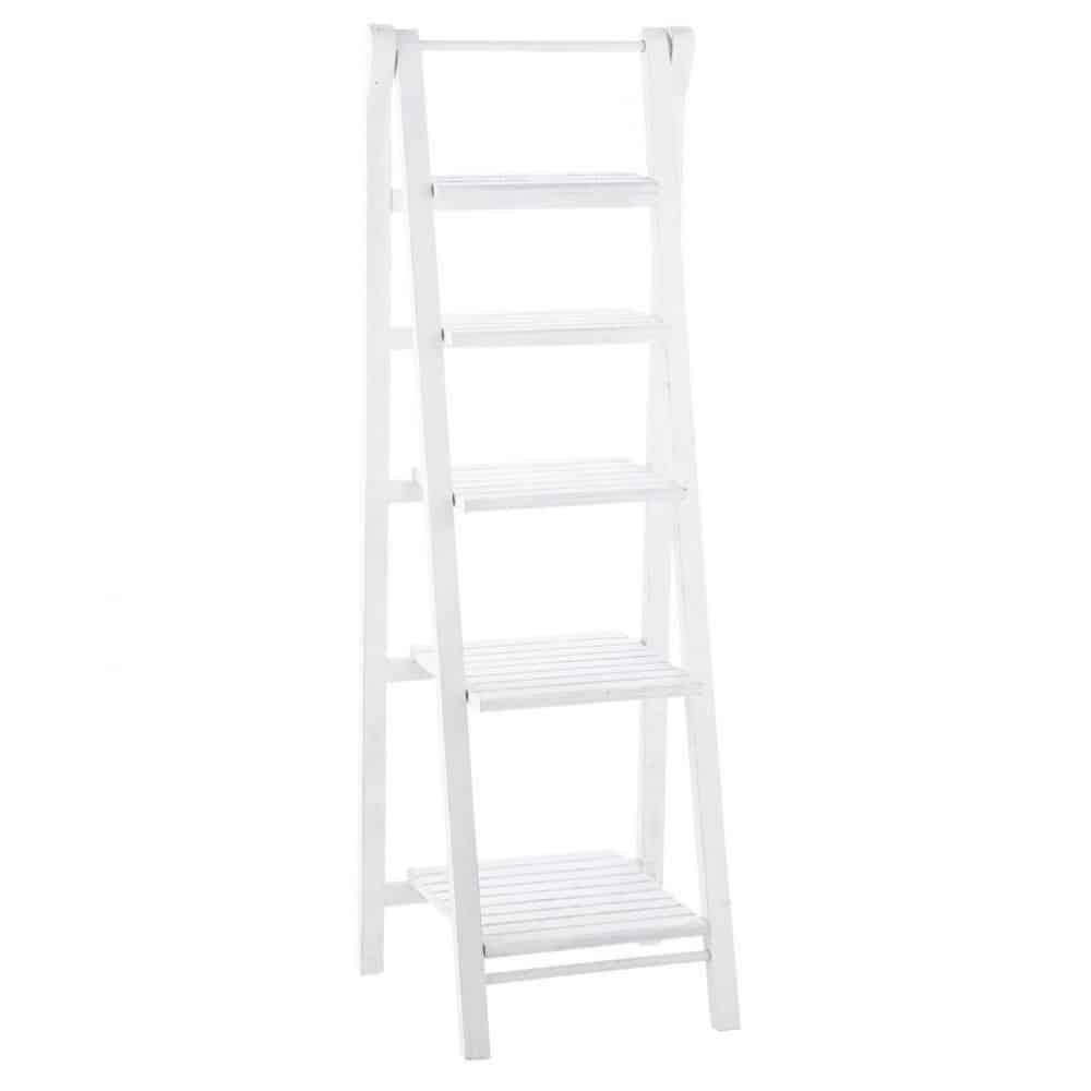 Estanter a escalera de madera blanca an 46 cm freeport - Estanterias en escalera ...