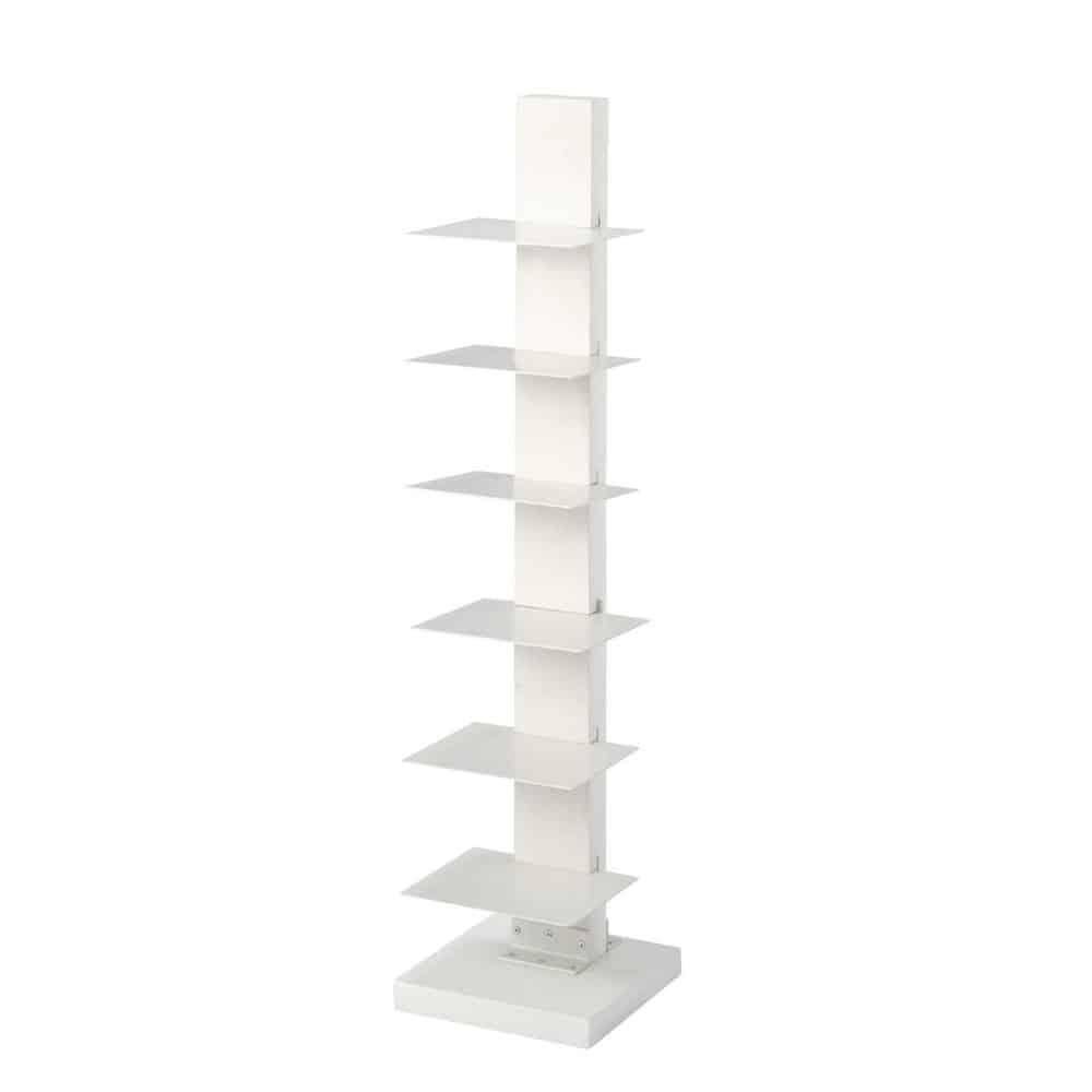Estanter a librer a blanca de madera an 25 cm maisons for Estanteria madera blanca