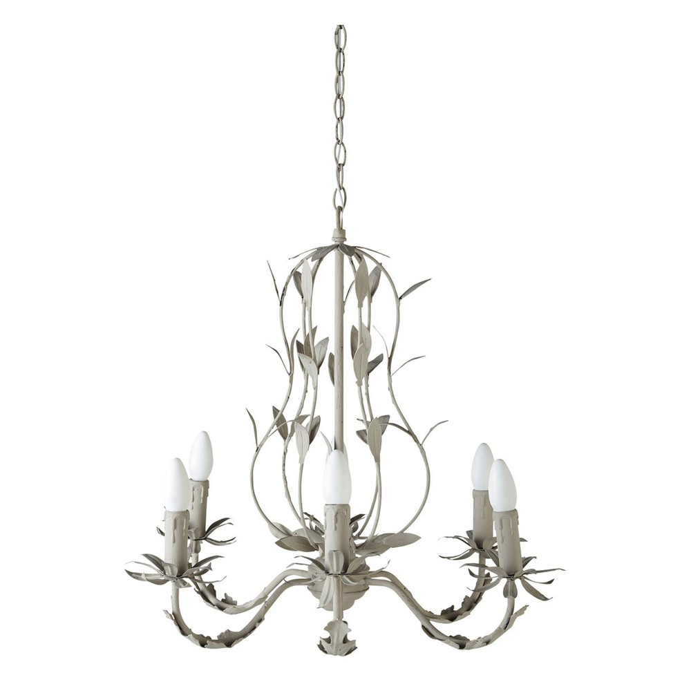 esterelle metal chandelier maisons du monde. Black Bedroom Furniture Sets. Home Design Ideas