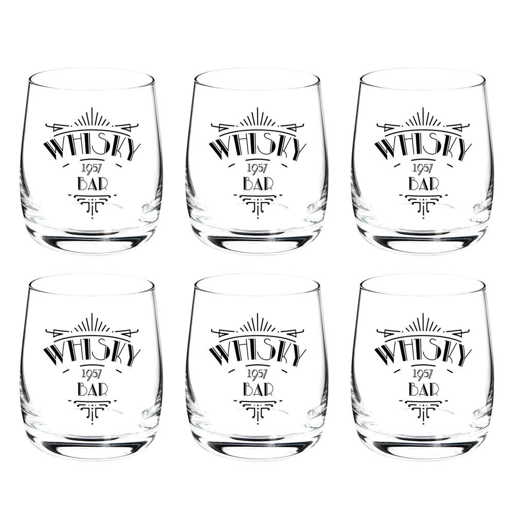 Estuche de 6 vasos de whisky whisky bar maisons du monde for Vasos para bar