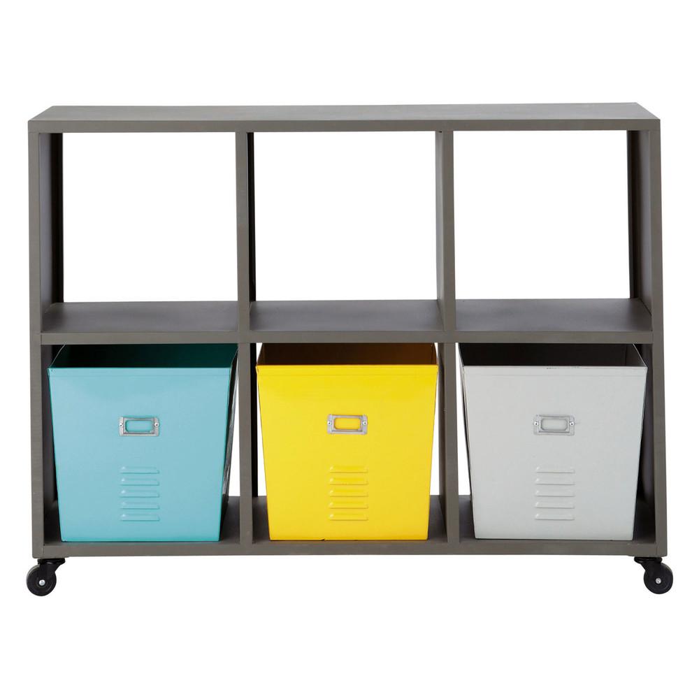 tag re roulettes grise l 105 cm espace maisons du monde. Black Bedroom Furniture Sets. Home Design Ideas