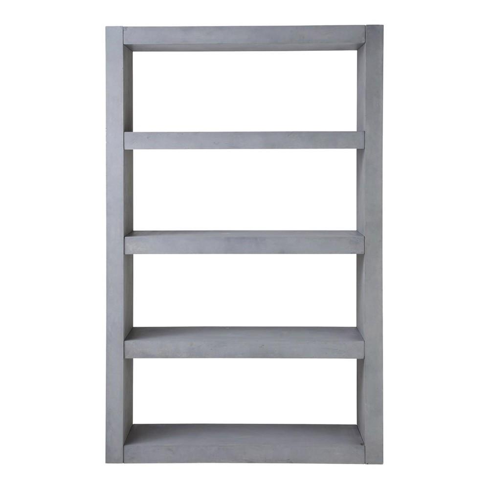 etag re de rangement b ton gris clair mineral maisons du monde. Black Bedroom Furniture Sets. Home Design Ideas