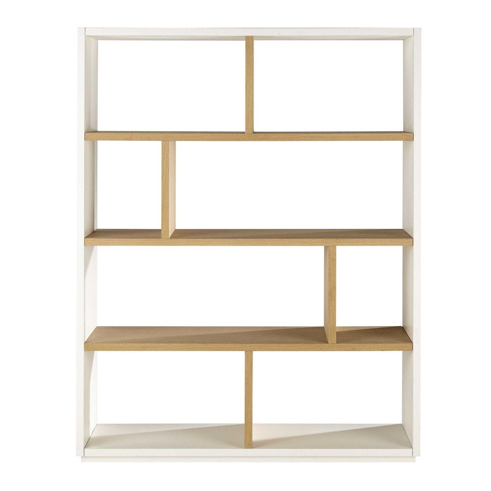 Tag re en ch ne blanche l 155 cm austral maisons du monde for Meuble bibliotheque profondeur 20 cm
