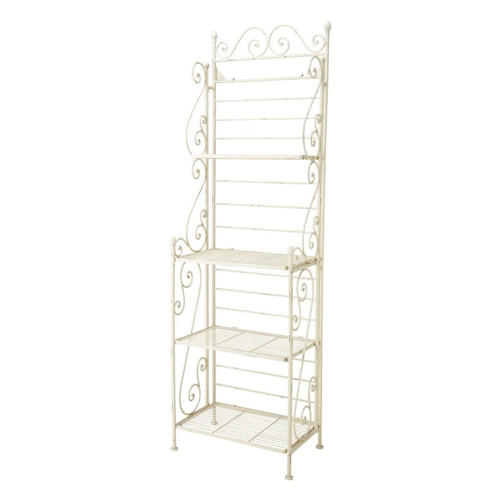 tag re en fer forg ivoire l 58 cm manon maisons du monde. Black Bedroom Furniture Sets. Home Design Ideas