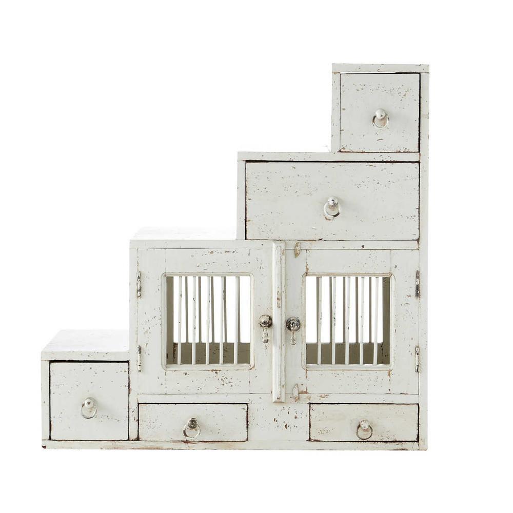 tag re en manguier blanche effet vieilli l 80 cm salvador maisons du monde. Black Bedroom Furniture Sets. Home Design Ideas