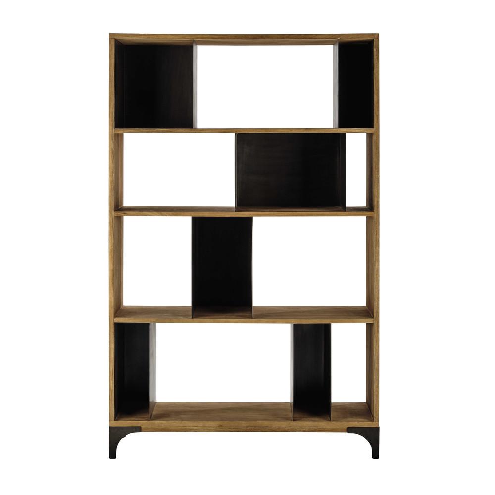 tag re en manguier massif et m tal l 125 cm metropolis maisons du monde. Black Bedroom Furniture Sets. Home Design Ideas