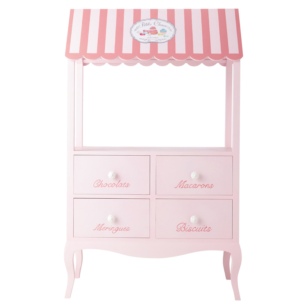tag re enfant en bois rose l 90 cm gourmandise maisons. Black Bedroom Furniture Sets. Home Design Ideas