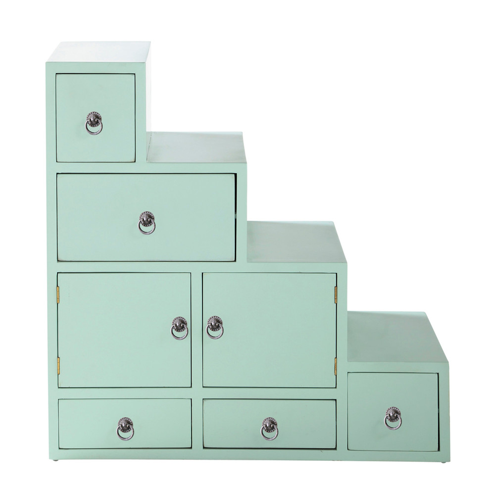 tag re escalier couleur vert d 39 eau l 80 cm pinkplanet maisons du monde. Black Bedroom Furniture Sets. Home Design Ideas