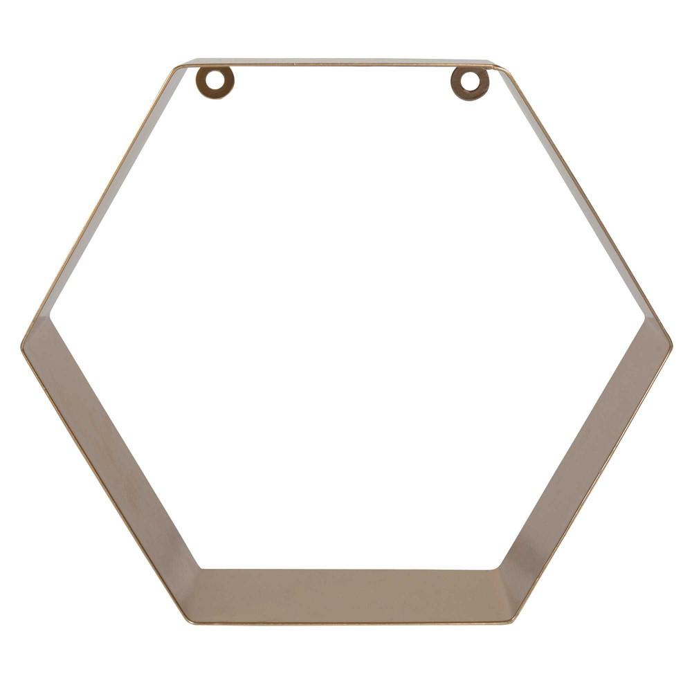 tag re hexagonale en m tal dor h 25 cm edvig gold maisons du monde. Black Bedroom Furniture Sets. Home Design Ideas