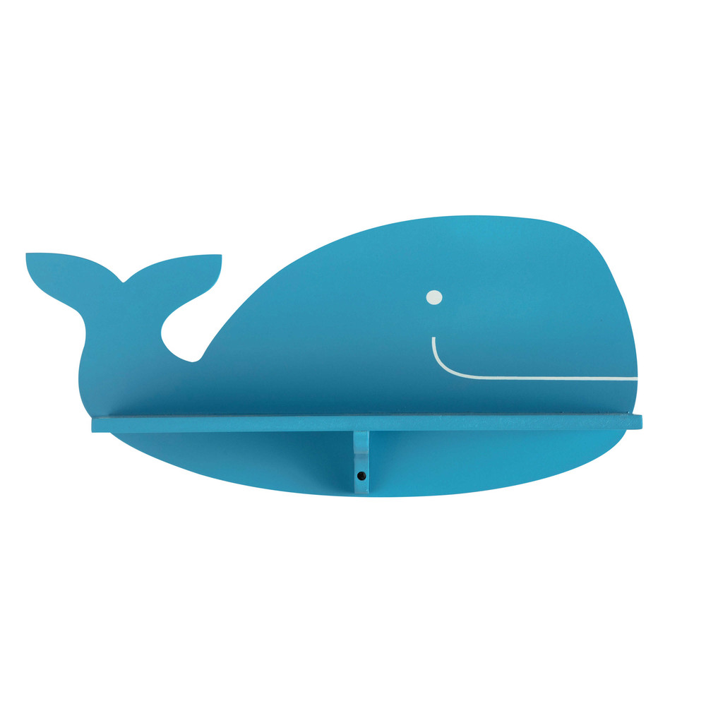 Tag re murale baleine bleue h 19 cm willy maisons du monde for Maison du monde willy