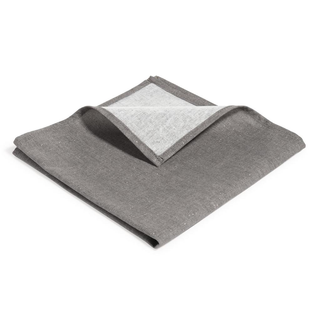 Tincelle charcoal silver glittery serviette 40 x 40 cm maisons du monde - Seche serviette 40 cm ...