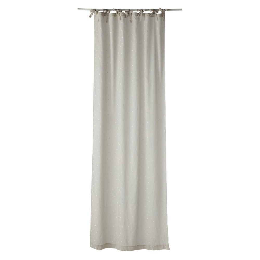 ÉTOILE Cotton Tie Top Curtain In Beige 102 X 250cm