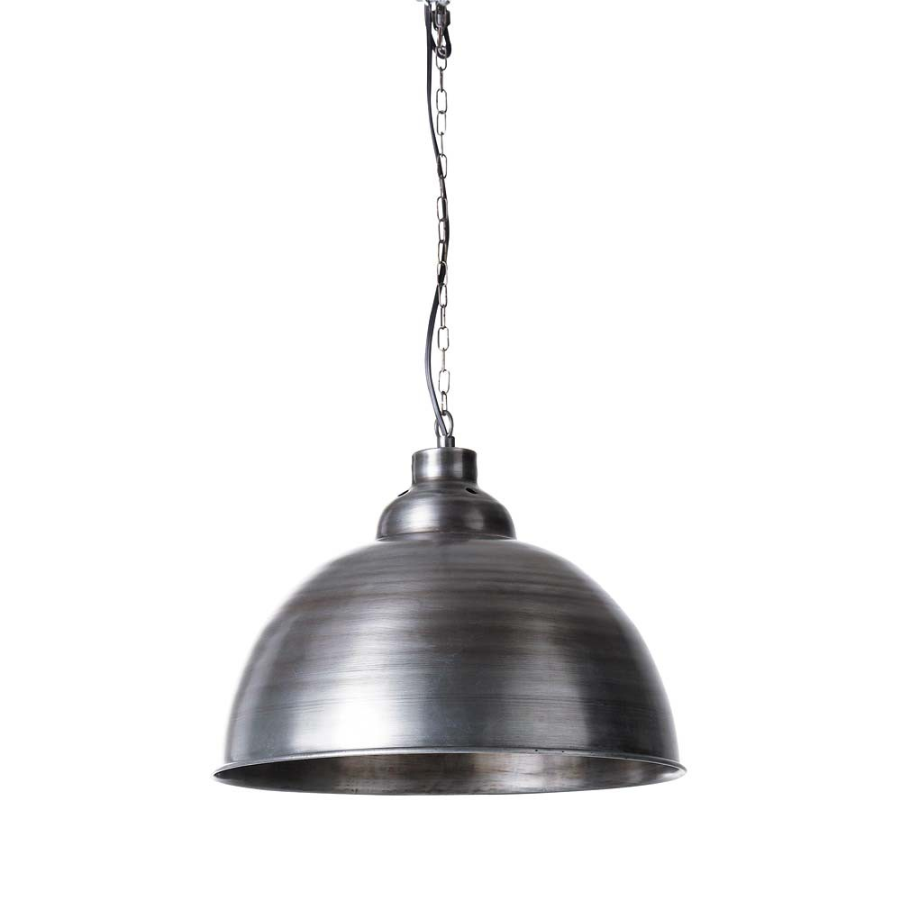 Factory brushed metal pendant lamp d 38cm maisons du monde for Lampadari maison du monde