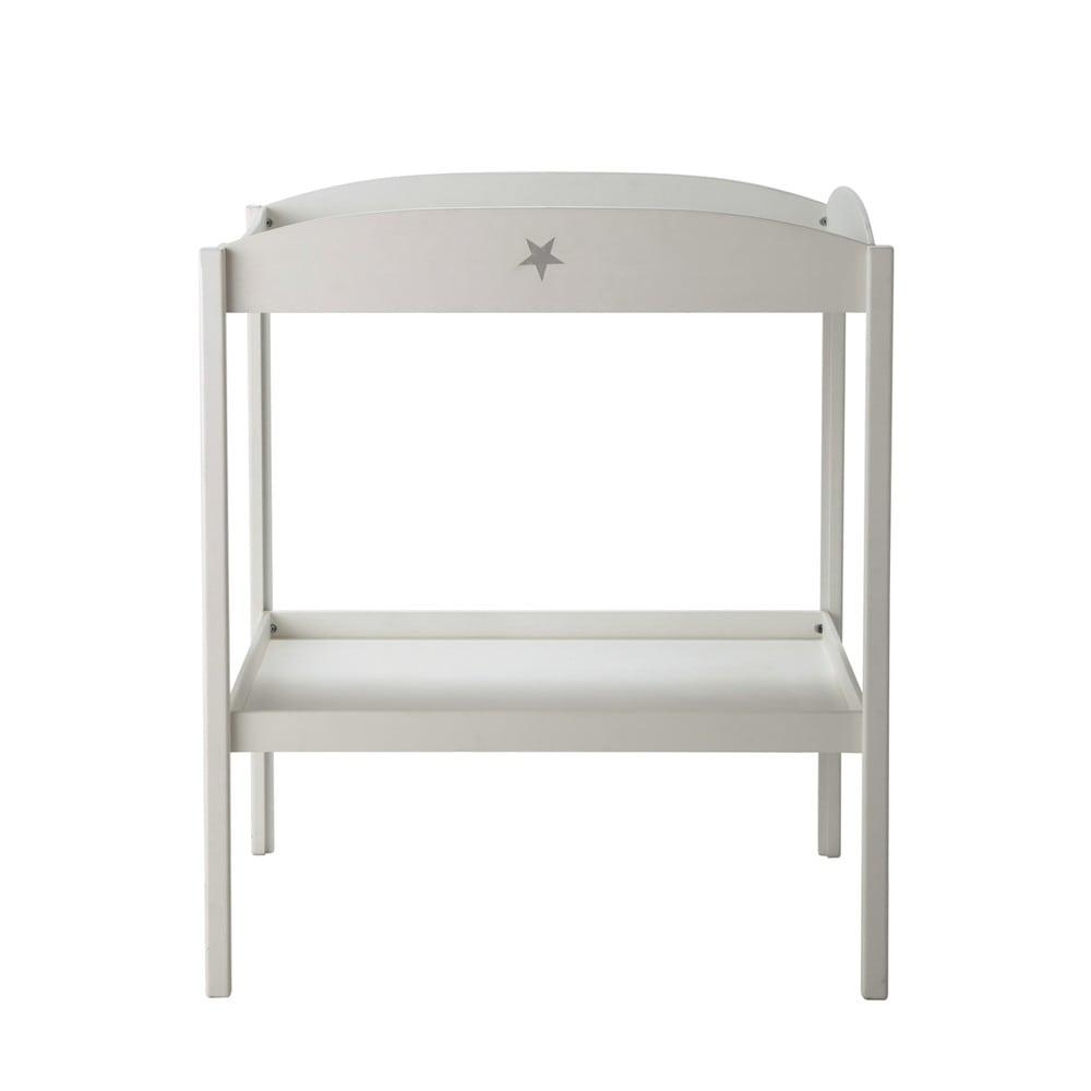 Fasciatoio bianco in legno l 80 cm pastel maisons du monde for Table a langer 52 cm