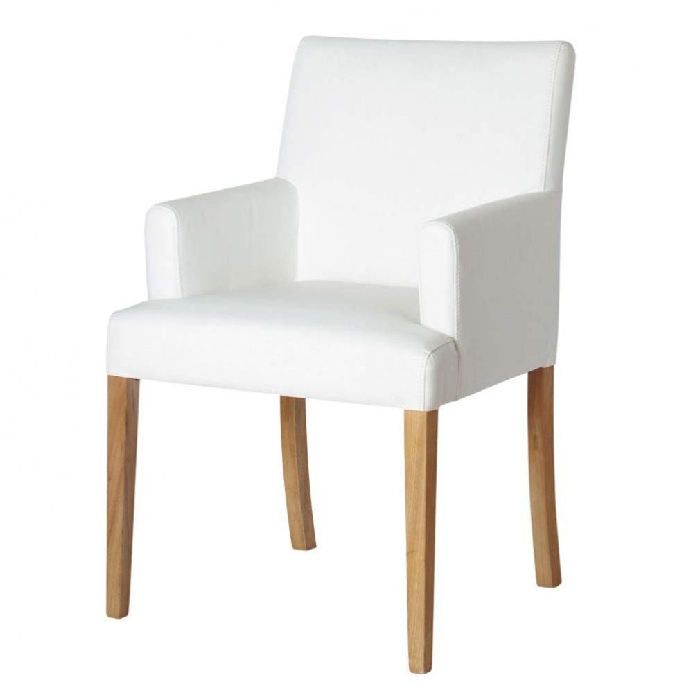fauteuil blanc lounge maisons du monde. Black Bedroom Furniture Sets. Home Design Ideas