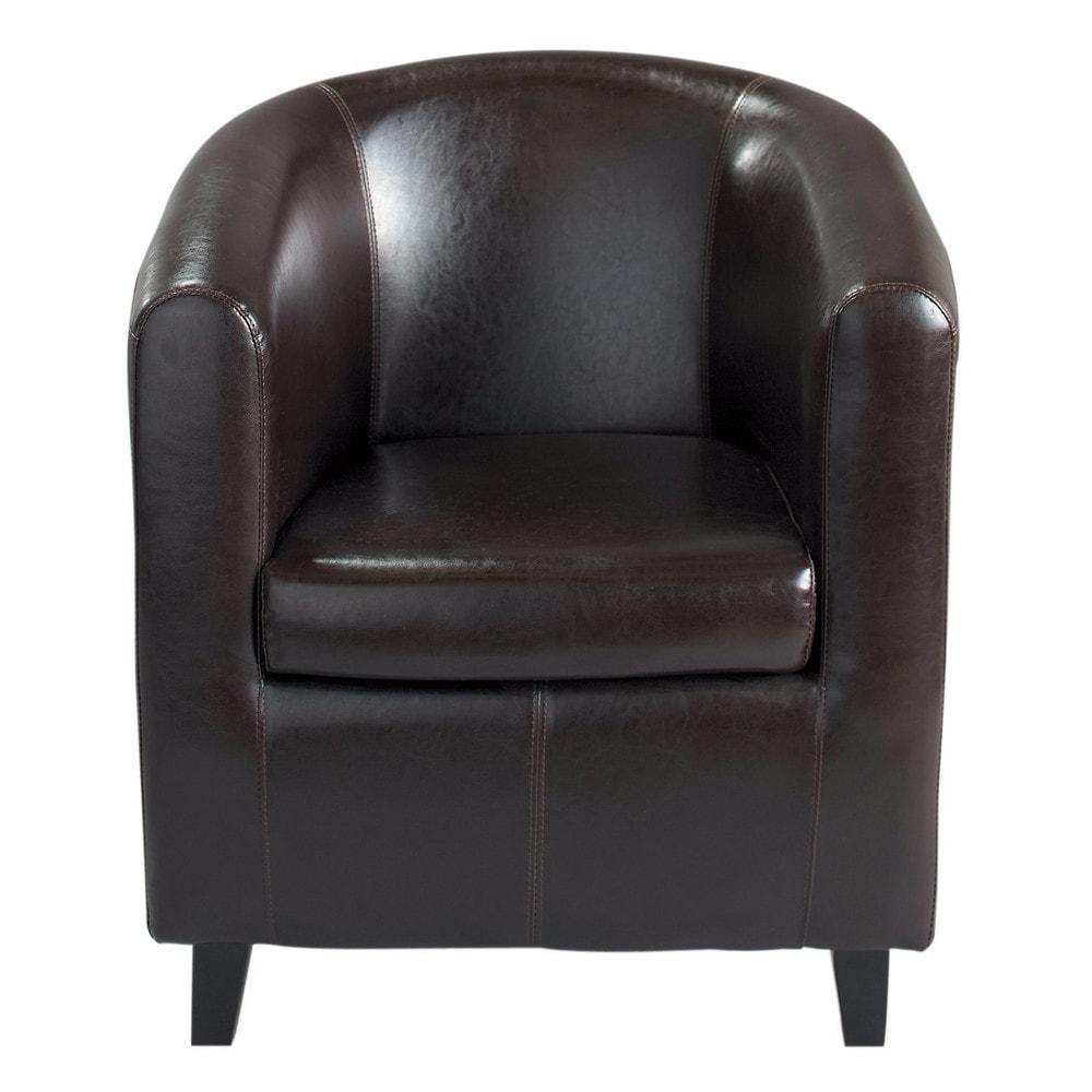 Fauteuil club marron nantucket maisons du monde - Maison du monde fauteuil ...