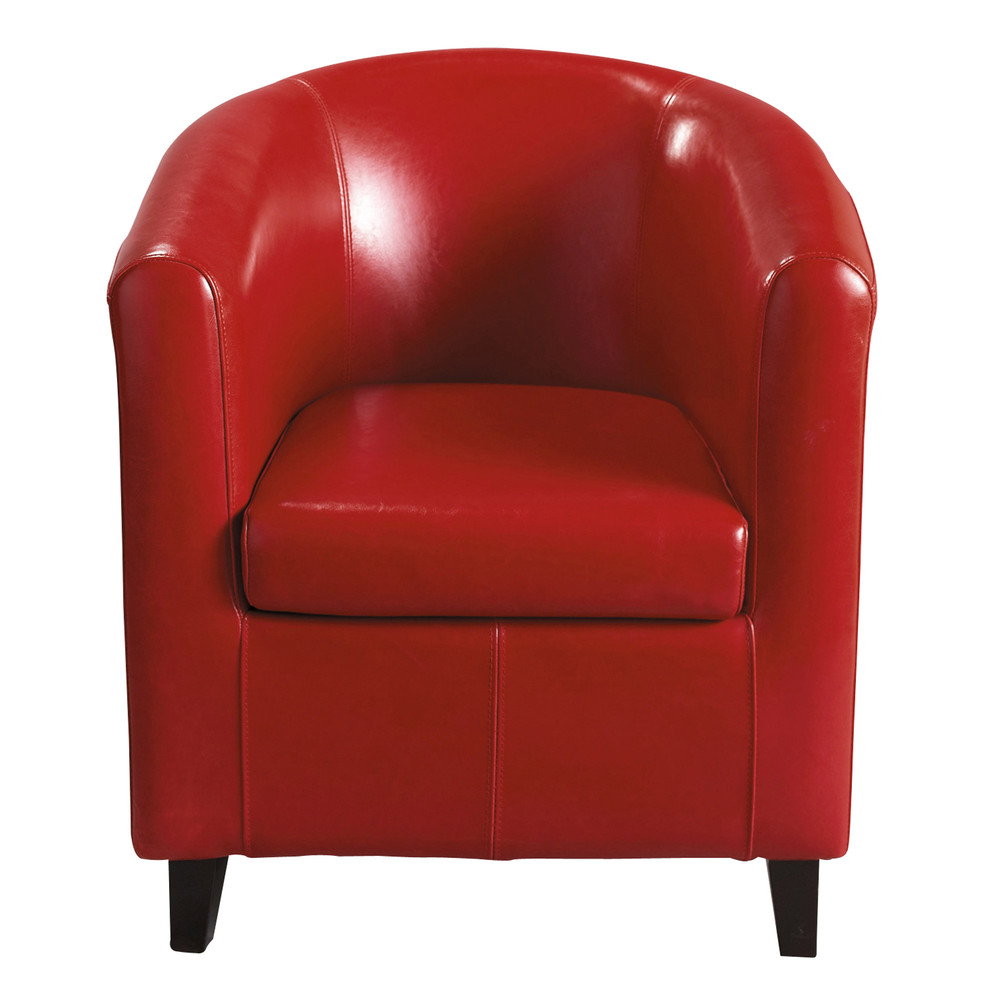 fauteuil club rouge nantucket maisons du monde. Black Bedroom Furniture Sets. Home Design Ideas